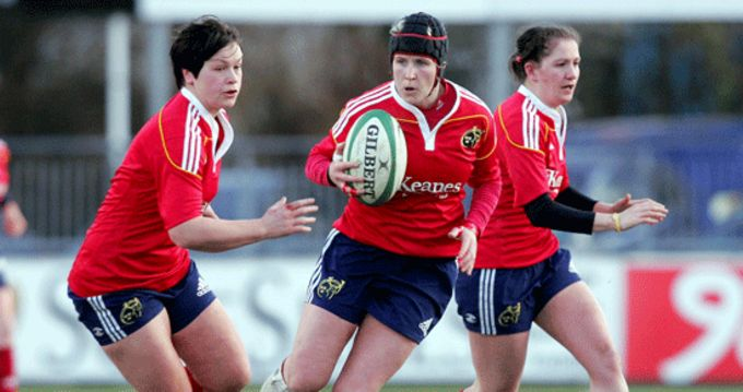 Joy Neville in action during Munster's Interprovincial win in 2012.