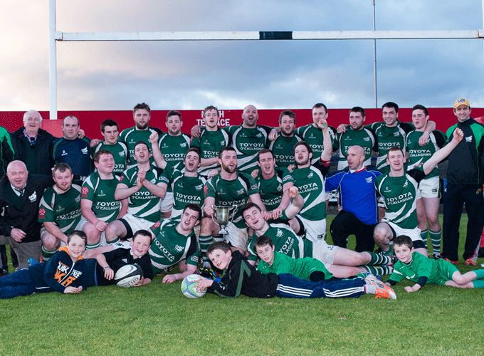 Michael Breen pictured with Kanturk who recently claimed the Cork County Cup at Musgrave Park.