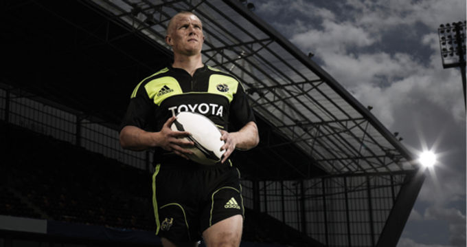 Keith Earls in the new adidas Munster Rugby alternate kit