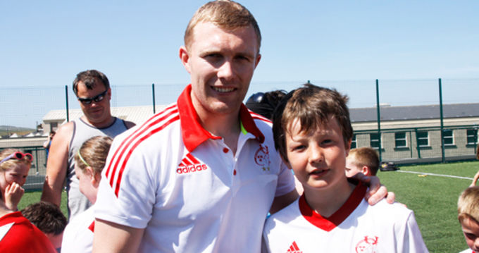 Keith Earls poses for a photo at the Kilkee Summer Camp.