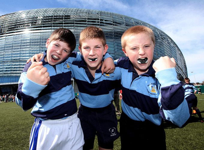 Daniel Kelly, Bobby Smith and Darragh Ryan from Kilfeacle & District pictured at the Aviva Stadium