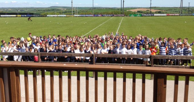 Boys and girls at the Kinsale RFC Tag Rugby Blitz