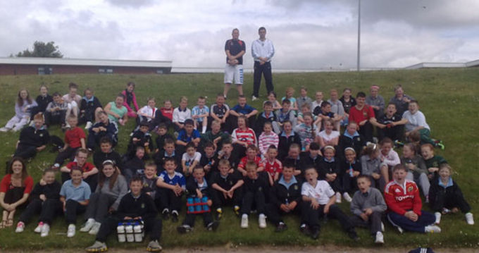 Boys and Girls enjoying the Knocknaheeny Tag Blitz