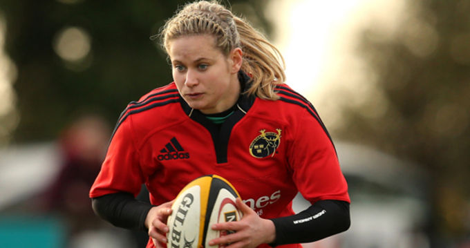 Tralee's Laura O'Mahony in action for Munster
