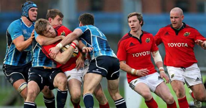 Munster A in action against Leinster A earlier this year in Donnybrook