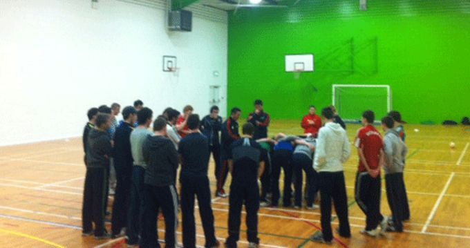 Students taking part in the Leprechaun Rugby Coaching Course at LIT