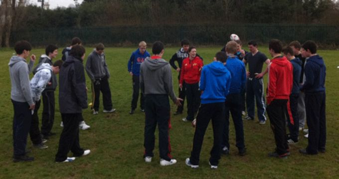 Amanda Greensmith, Community Rugby Officer coordinates the Lep Rugby Course.