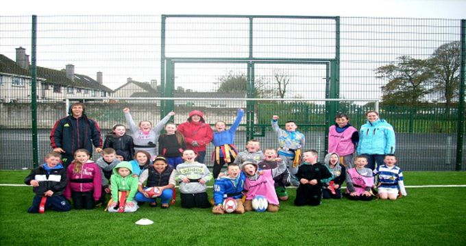 Andy Brace, Limerick Regeneration Community Rugby Officer pictured with camp participants.