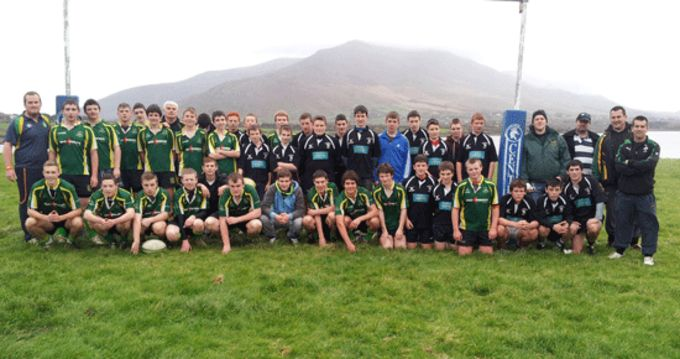 Listowel and Iveragh U16 players pictured at Caherciveen, Co. Kerry.