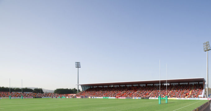Looking into the future, an image of the proposed Musgrave Park Stand