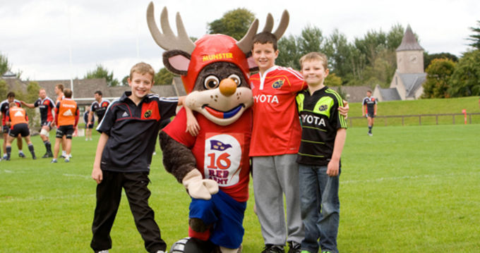 Name the Munster Rugby Supporters Club Junior Mascot