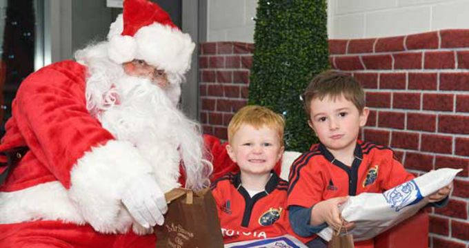 Santa with Alex and Rory O'Dell