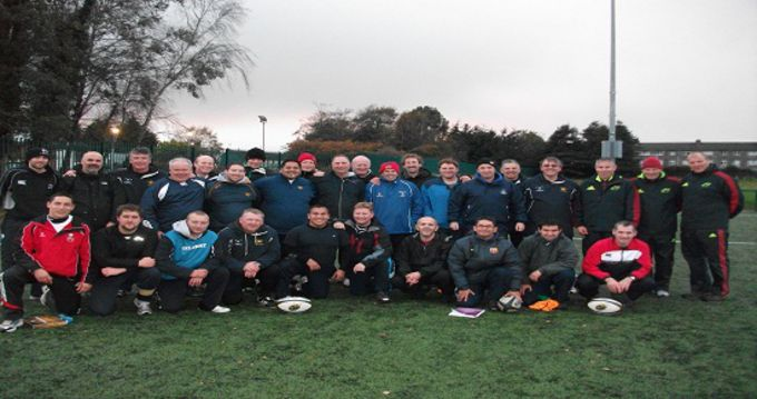 Course tutors and participants at the Mini and Foundation coaching course at CSN, Cork.