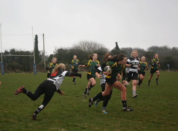 Mallow U18 girls in action