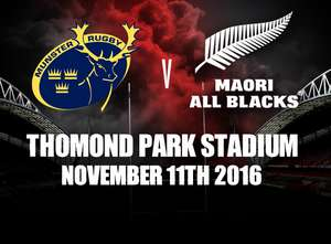 Munster To Play Maori All Blacks