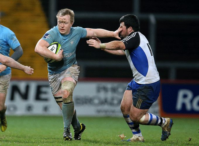 Mark Rowley in action for Garryowen FC