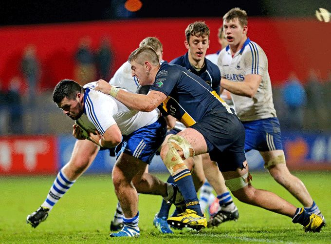 U20 hooker Max Abbott on the charge for Cork Constitution