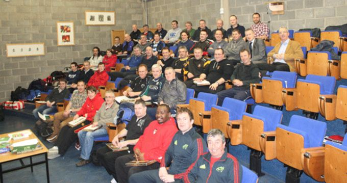 Mini Coaches pictured with Coaching Officers Brendan O'Connor and Finny O'Regan at CSN, Cork.