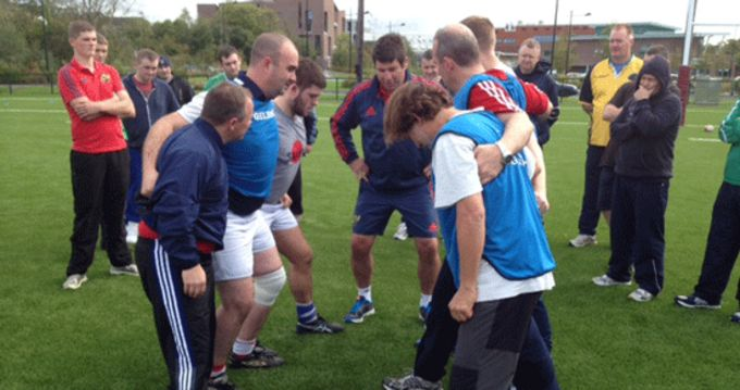 Munster Rugby Coach Officer Ken O'Connell facilitates Mini Coaching Course at UL