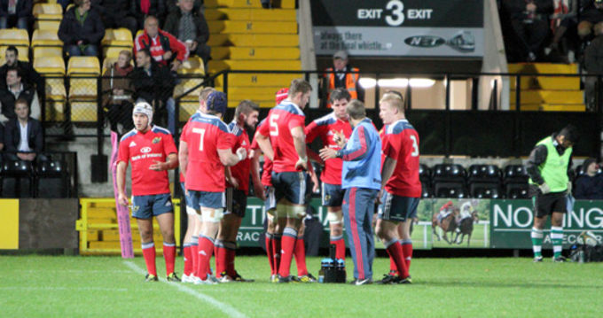 Munster A in action in Meadow Lane
