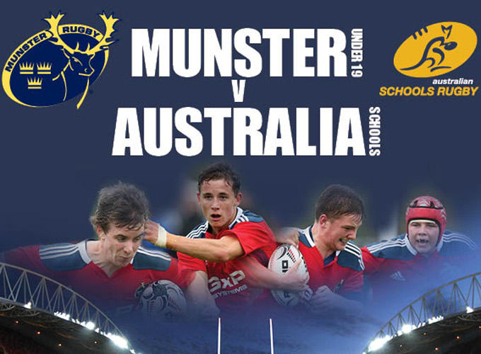 Thomond Park will host Munster U19s v Australia Schools on Tuesday at 5pm