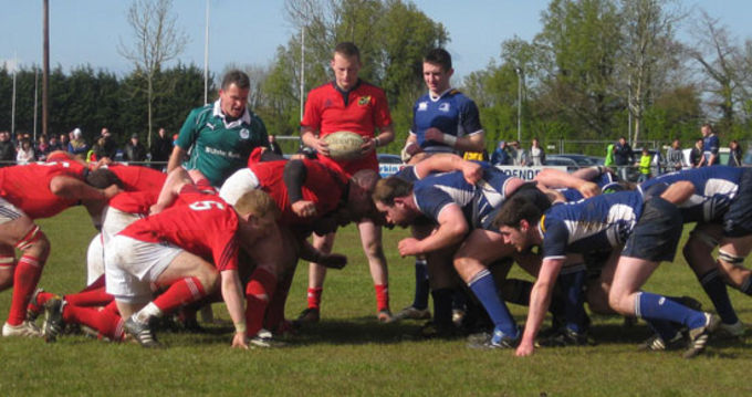 Action from Munster Juniors clash with Leinster Juniors