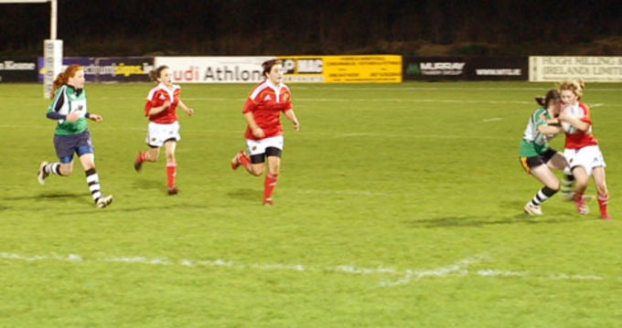 Munster U18 Girls Club selection side in action