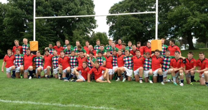 Munster U19s pictured with the Exiles in Reading