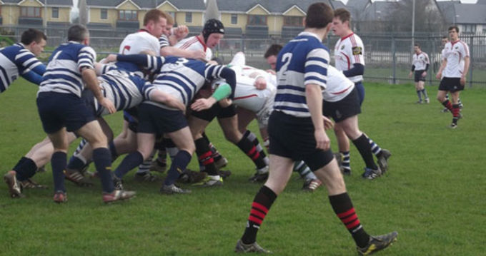 Munster Junior pack in action at Waterford City RFC