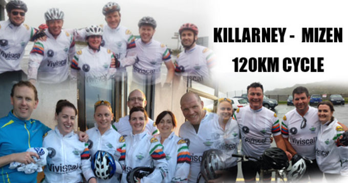 Munster Rugby staff cycle in support of C.R.O.S.S.