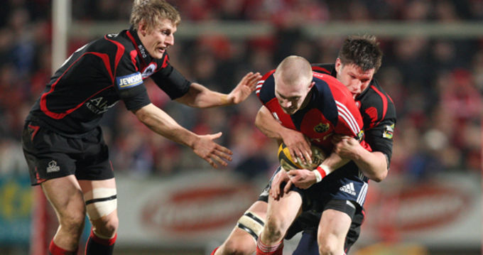 Munster v Edinburgh in action last season