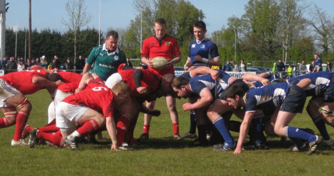 Munster Juniors in action against Leinster