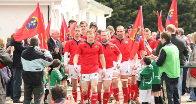 Munster Juniors Captain Brian O'Sullivan leads out his team