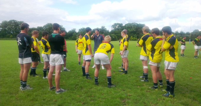 Munster U18 Schools take part in a line-out training session with Munster forward Donnacha Ryan