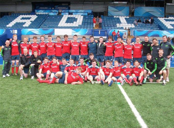 Munster Under 19 Squad, sponsored by Star Elm Frames, pictured last Friday at the Arms Park ahead of their win over Cardiff