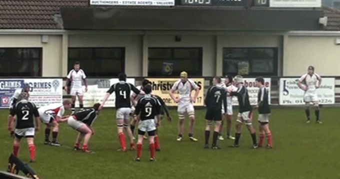 Munster U19's compete against their Ulster counterparts recently at Ashbourne RFC