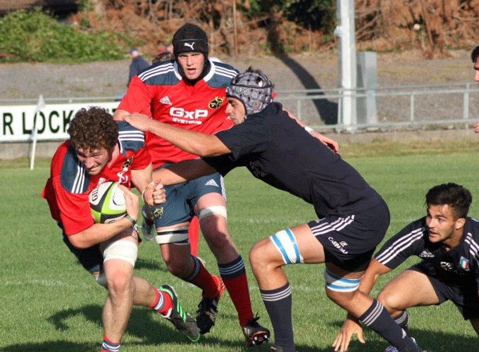 Munster U20 side in recent action against the Italy U20's