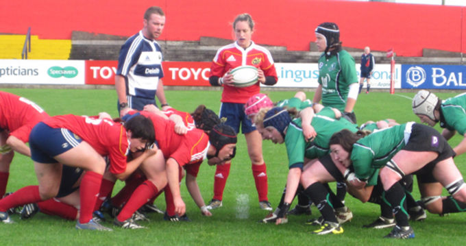 Munster Women in action against Connacht in Musgrave Park