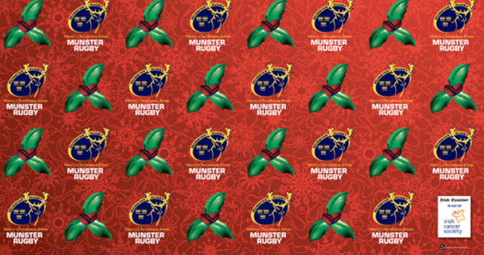 Munster Rugby Wrapping Paper - Free this Saturday in the Irish Examiner