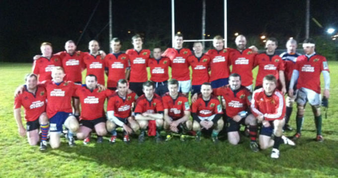 The Munster Junior squad which played a Munster College selection last night at CIT
