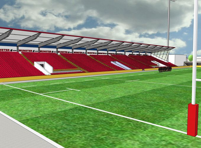 Artist's impression of the new West Stand at Musgrave Park