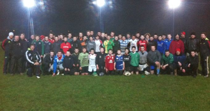 Newcastle West RFC and Estuary RFC coaches and youth players