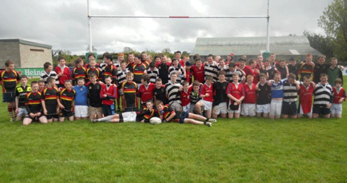 Tipperary National School pupils at the Nenagh RFC Tag Rugby Blitz