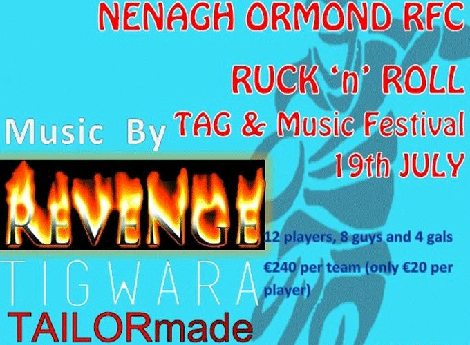 Nenagh Ormond get set for the 'Ruck 'n Roll' festival