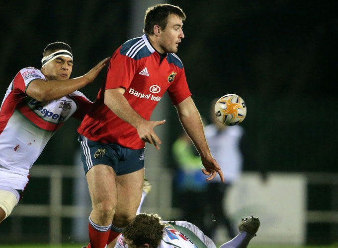 Munster A captain Niall Scannell in action on Friday night