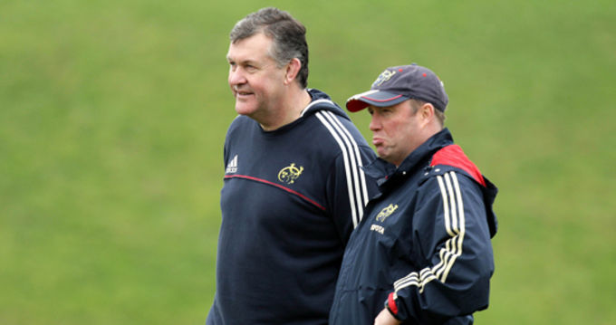 Niall O'Donovan pictured with former Munster Head Coach Tony McGahan