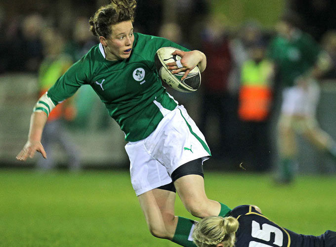 Niamh Kavanagh in action for Ireland