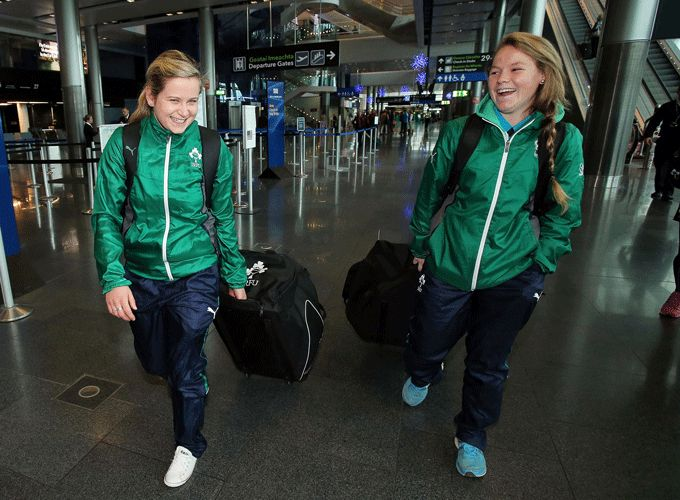 Munster's Nicole Cronin (right) selected on the Ireland Women's Sevens Squad