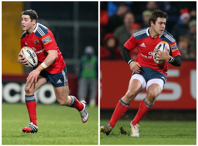 Two of Munster's fastest players - Ronan O'Mahony & Gerhard Van Den Heever