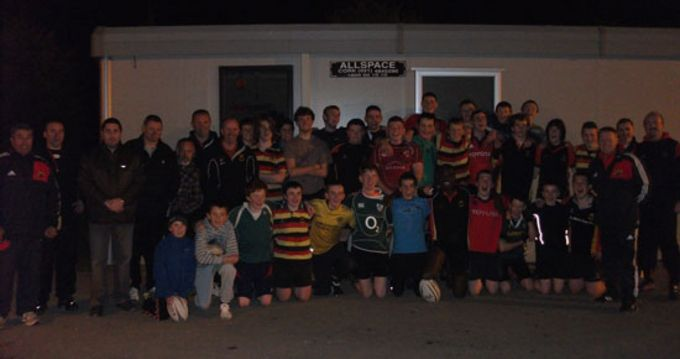 Old Christians U17 Squad with Munster Rugby Coaching Officers' Finny O'Regan and Keith Murphy
